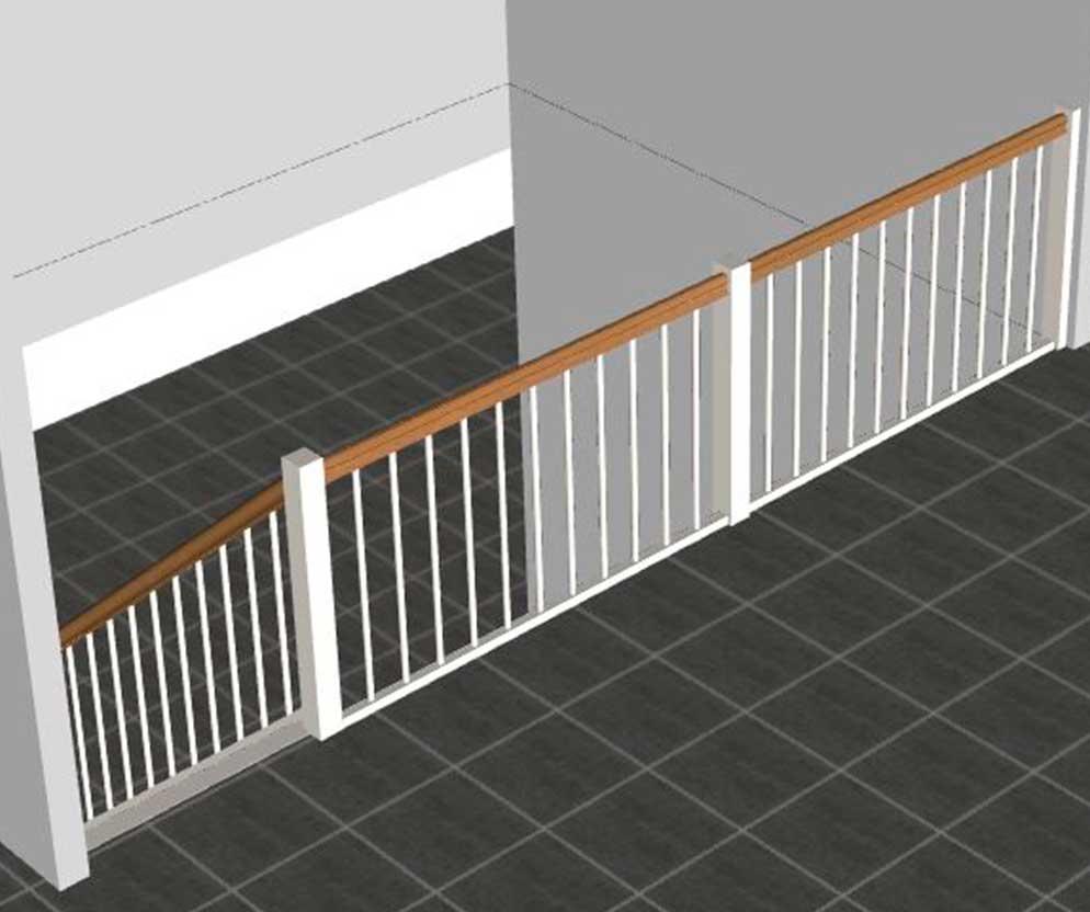 Balkongelænder ved trappeside